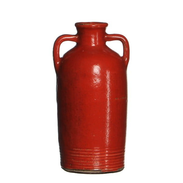 Keramická váza Sil Red, 20x10 cm