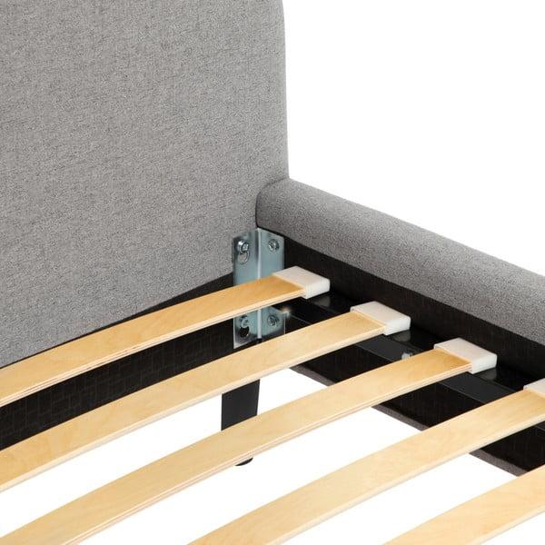 Šedá dvoulůžková postel s černými nohami Vivonita Mae King Size, 180 x 200 cm