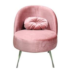 Křeslo Glamour, růžové