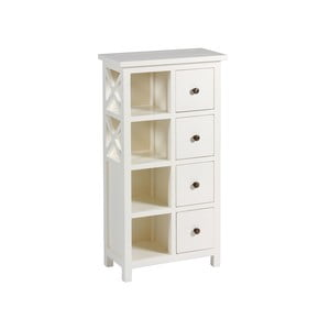 Bílá skříňka z akáciového dřeva SantiagoPons Acacia