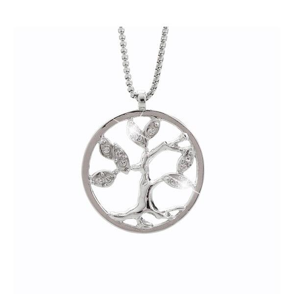 Tree of Life ezüstszínű nyaklánc Swarovski Elements kristályokkal - Laura Bruni