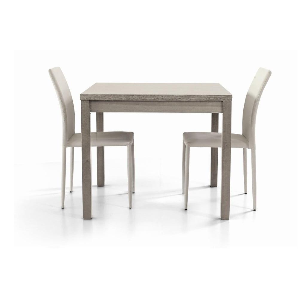 Šedý dřevěný rozkládací jídelní stůl Castagnetti Wyatt, 90 cm