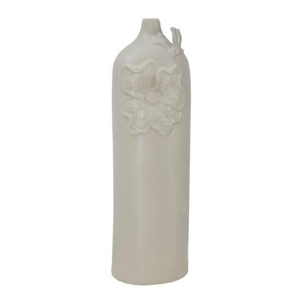 Béžová porcelánová váza Mauro Ferretti Fleur, výška 47,5 cm