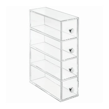 Cutie depozitare transparentă cu 4 sertare iDesign Tower poza