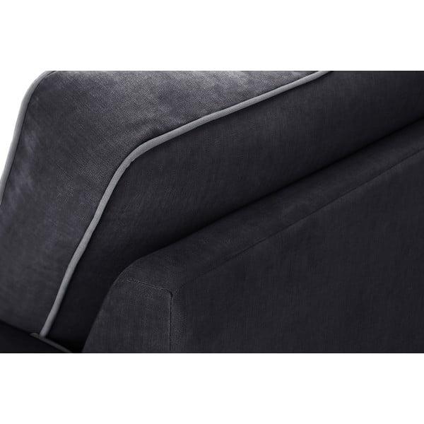 Dvoudílná sedací souprava Jalouse Maison Serena, černá