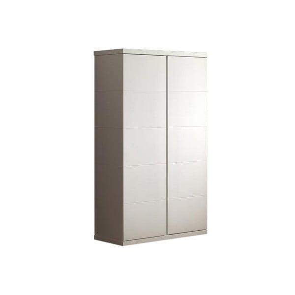 Bílá šatní skříň Vipack Lara White, výška 204 cm