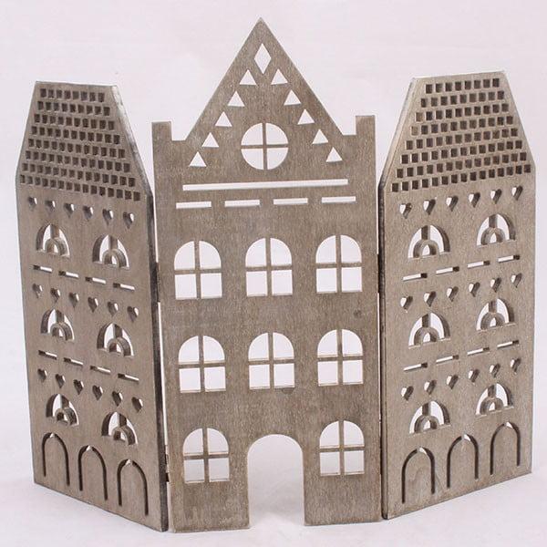 Dekorativní hnědý domeček