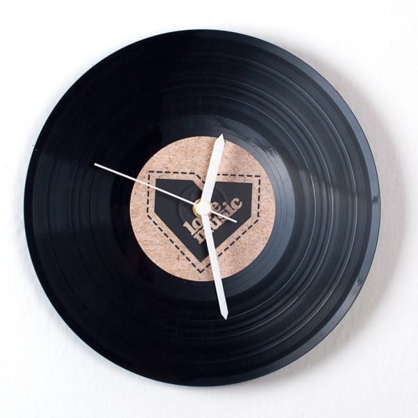 Vinylové hodiny Recycled