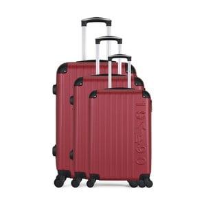 Sada 3 vínových cestovních kufrů na kolečkách GENTLEMAN FARMER Cadenas Integre