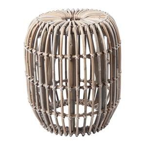 Světle hnědý ratanový odkládací stolek RGE Venus, ⌀ 77 cm