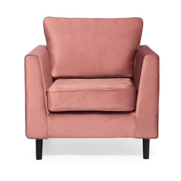 Jasnoróżowy fotel Vivonita Portobello