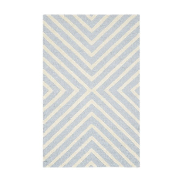 Vlněný koberec Prita Light Blue, 91x152 cm