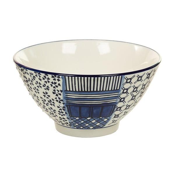 Bol din porțelan Santiago Pons Meknec, ⌀ 15 cm, alb - albastru