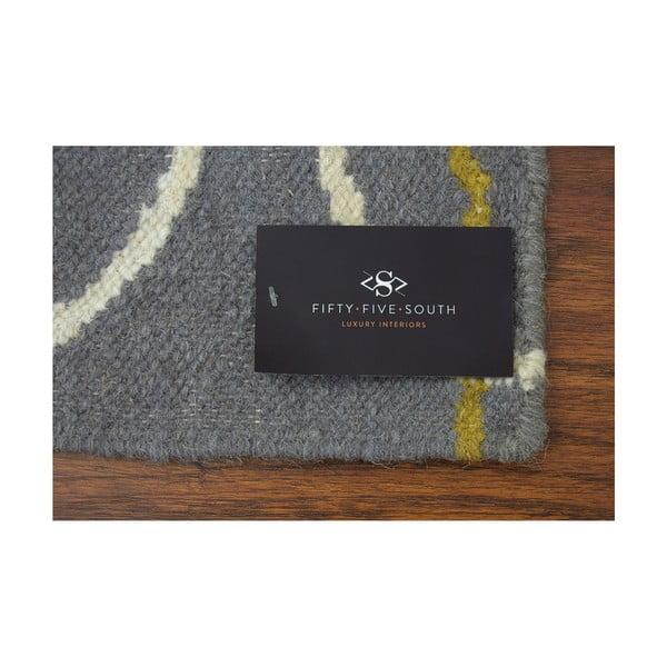 Ručně tkaný koberec Oslo, 120x180 cm, šedý