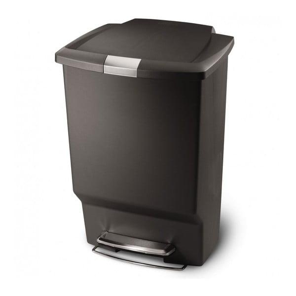 Pedálový koš na odpadky Liana, 45 l černý