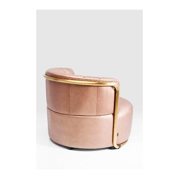 Růžové křeslo Kare Design Salto