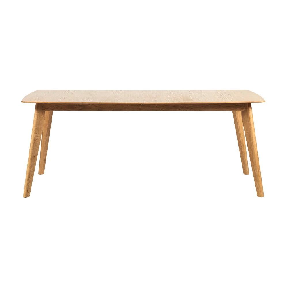 Dubový rozkládací jídelní stůl Folke Frey, délka 190cm