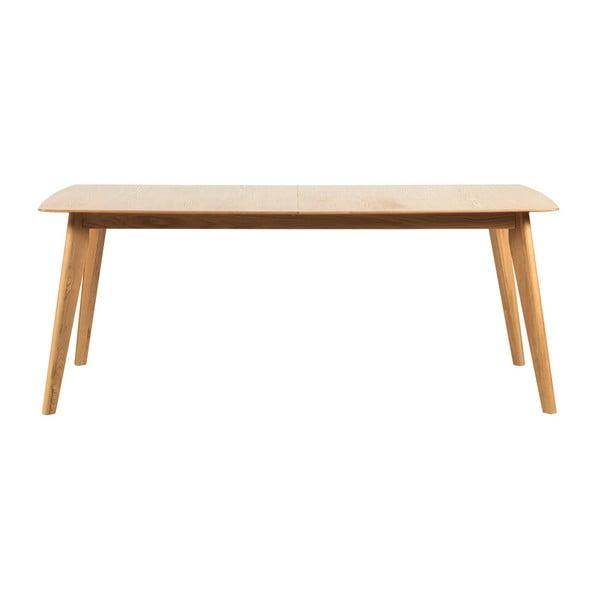 Dubový rozkládací jídelní stůl Rowico Frey, délka 190cm