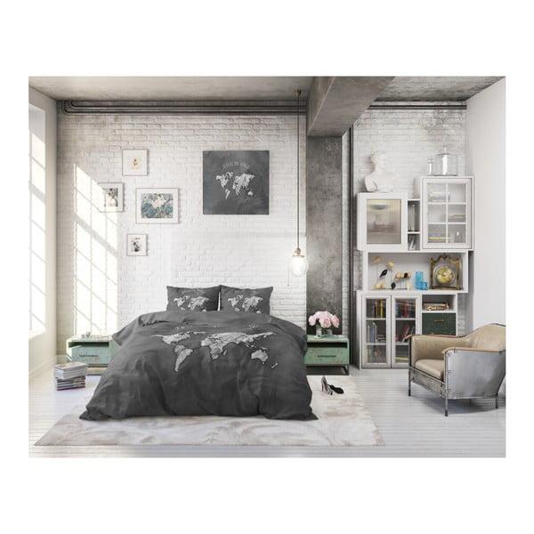 Bavlněné povlečení na jednolůžko Sleeptime Worldie, 140 x 220 cm