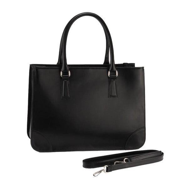 Kožená kabelka Lime, černá