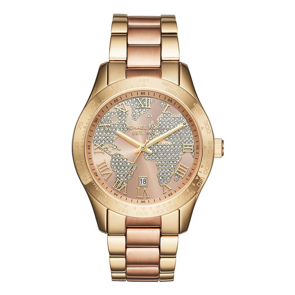 2f734994249 Dámské hodinky zlaté barvy Michael Kors World