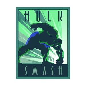Obraz Pyramid International Marvel Deco Hulk, 60 x 80 cm