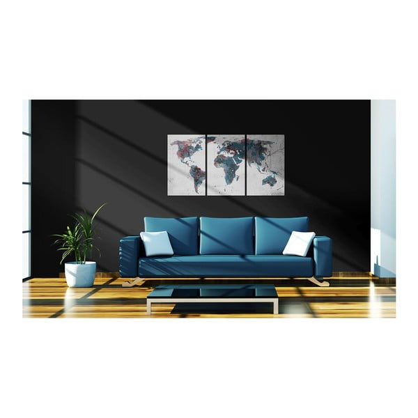 Vícedílný obraz na plátně Artgeist Continental Drift, 60 x 30 cm