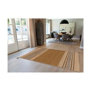Hnědý ručně vyráběný bavlněný koberec Arte Espina Navarro 2921, 130x190cm