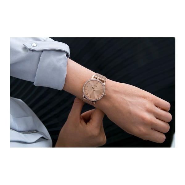 Dámské hodinky s páskem ve zlatorůžové barvě z nerezové oceli Frederic Graff Santo