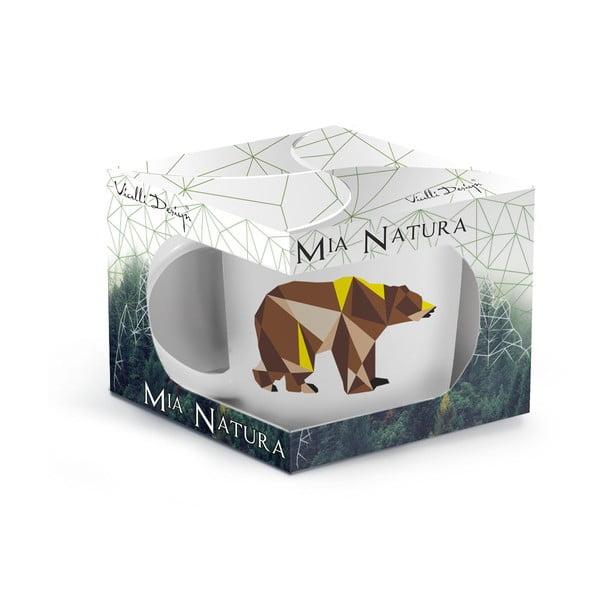 Porcelánový hrnek Vialli Design Wild Bear, 370 ml
