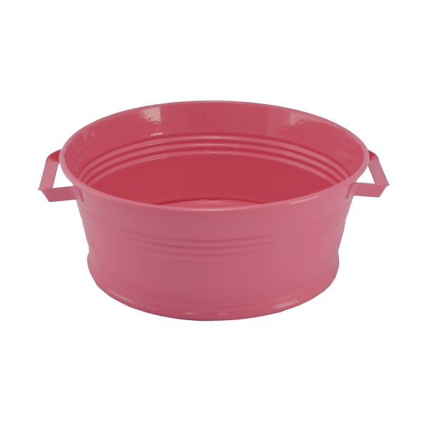 Kovový kbelík s uchy Kovotvar, 10x27 cm, růžový