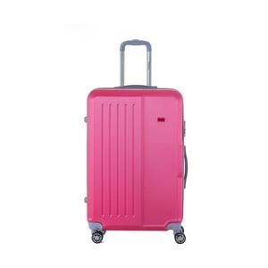 Růžový cestovní kufr na kolečkách s kódovým zámkem SINEQUANONE Josh, 107 l