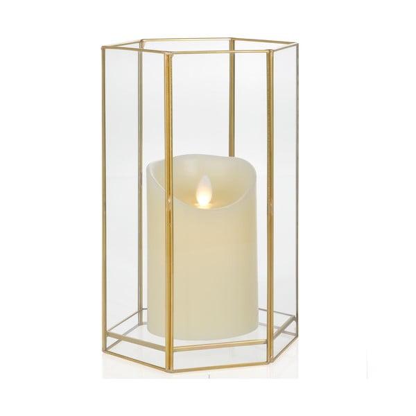 Svícen Gold Hex, výška 22.8 cm