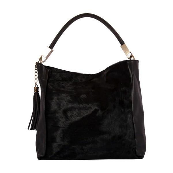 Čierna kabelka z pravej kože Andrea Cardone Sarmuto