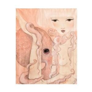 Autorský plakát od Lény Brauner Oktopus, 47x60 cm