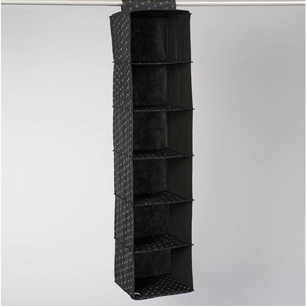 Černý závěsný organizér se 6 přihrádkami Compactor Garment
