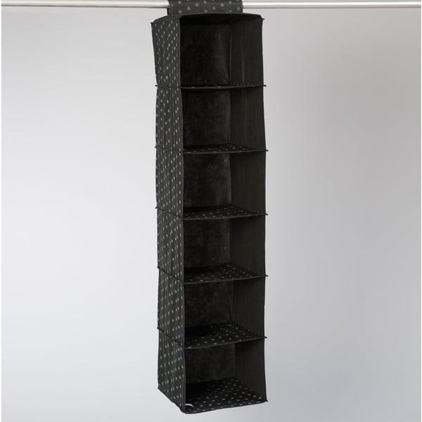 Čierny závesný organizér so 6 priehradkami Compactor Garment