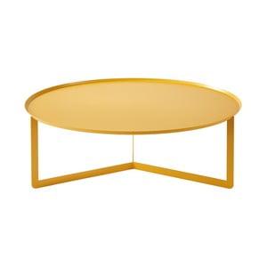 Žlutý konferenční stolek MEME Design Round, Ø95cm