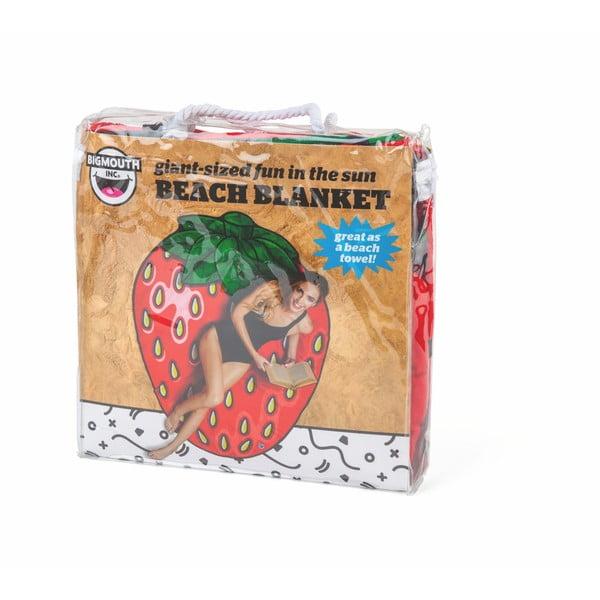 Plážová deka ve tvaru jahody Big Mouth Inc., ⌀ 152 cm