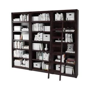 Tmavě hnědá knihovna z borovicového dřeva Støraa Bailey, 245x213cm