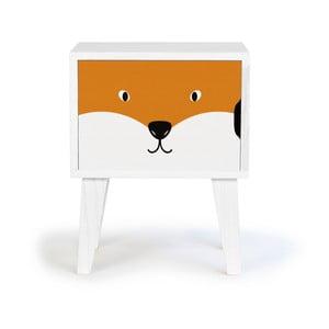 Noptieră din lemn pentru copii Little Nice Things Fox