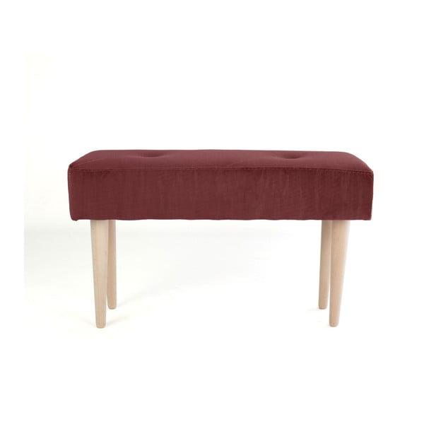 Bükkfa pad vörös bársonyhuzattal - Surdic