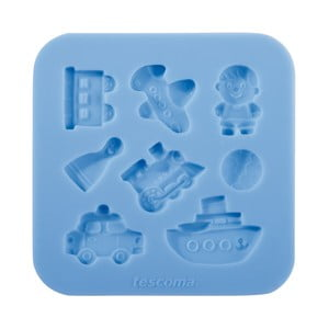 Modrá silikonová formička Tescoma Delícia Deco Pro kluky