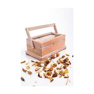 Dřevěná krabička na šití s ouškem, podlouhlá