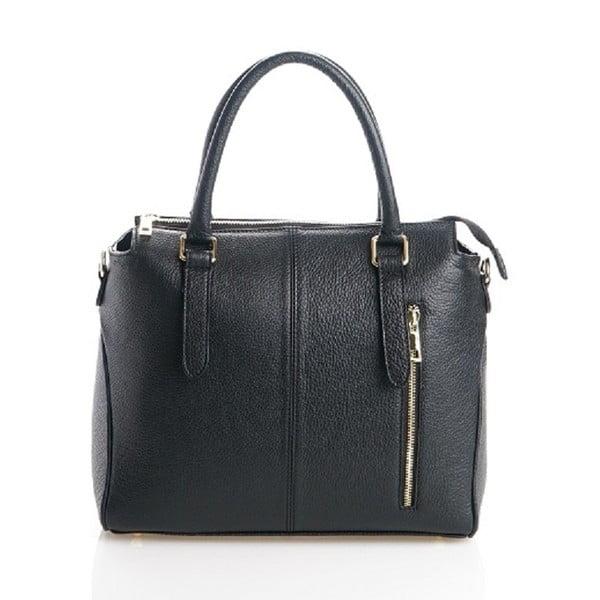 Kožená kabelka Konstanc, černá