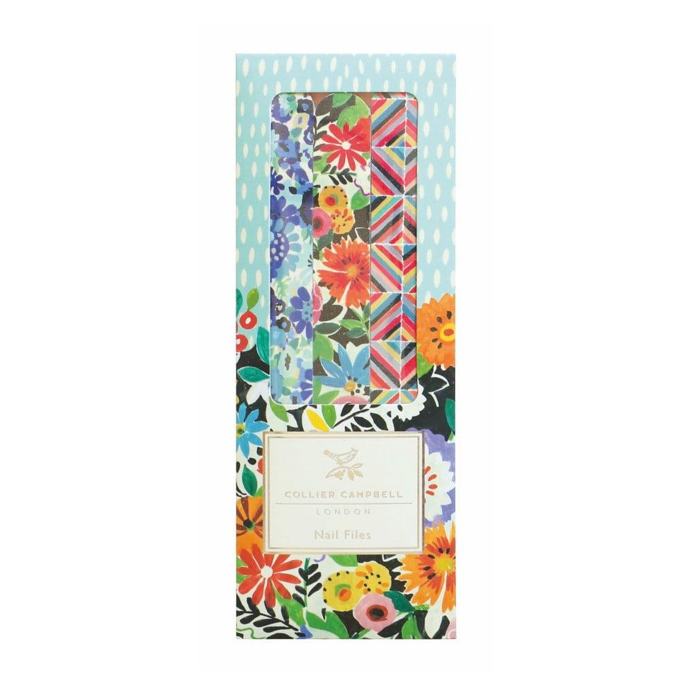 Sada 3 pilníků na nehty Portico Designs Floral