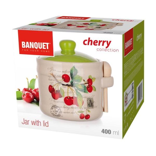 Keramická dóza se lžičkou Banquet Cherry, 400ml
