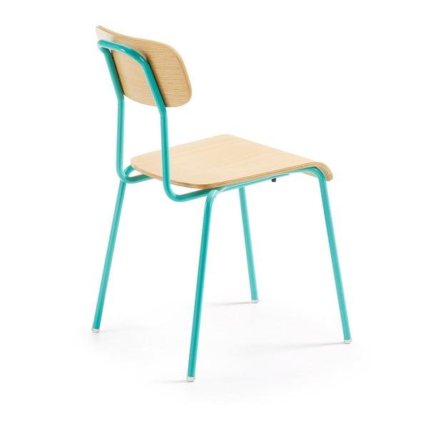 Set 4 scaune La Forma Klee, maro-turcoaz