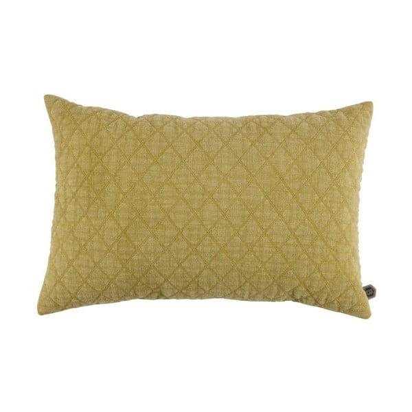 Žlutý bavlněný polštář BePureHome Guides, 40x60cm