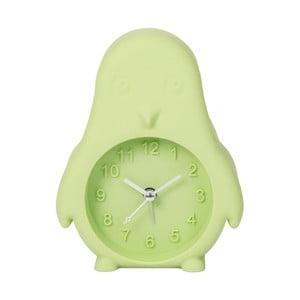 Světle zelené hodiny s budíkem Just 4 Kids Green Penguin